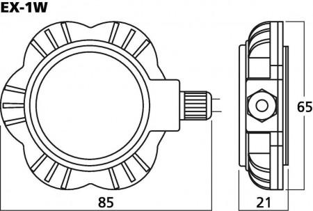 MONACOR EX-1W Audio-Exciter/Resonator, 5W, 8O