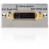 Oehlbach DVI-I (Dual Link) Anschlussfeld, Kabelpeitsche, Buchse/Buchse