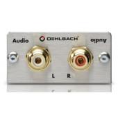 Oehlbach Audio Cinch L/R Anschlussfeld, Kabelpeitsche, Buchse/Buchse