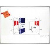 FRANKEN WWT PRO emailliert HxB 100x200 magnetisch beschreibbar mit WWT-Markern abwischbar Alurahmen