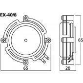 MONACOR EX-40/8 Audio-Exciter/Resonator, 20W, 8O