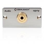 Oehlbach Audio 3,5mm Klinke Anschlussfeld, Kabelpeitsche, Buchse/Buchse