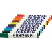 FRANKEN Weisswandtafel-Marker Rundsp. Strichst. ca. 2-6mm Pigmenttinte trocken abwischb. 10 Stück