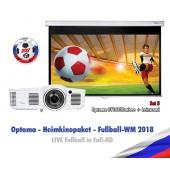 Optoma WM-Paket 3 - Heimkinoprojektor und Leinwand