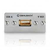 Oehlbach USB-A auf USB-B (2.0) Anschlussfeld, Kabelpeitsche, Buchse/Buchse