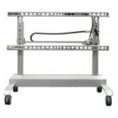 MEDIASPRINT Display Mobil 5010L bis 950 mm fahrbar höhenverstellbar bis 100 kg weiss