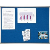 FRANKEN Pinntafel PRO Filz blau HxB 100x150 cm Alurahm. silbereloxiert m. hellgr. Kunststoffecken