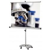 CombiFlex Education Mobil-Bildwand 150cmx150cm Aufprojektion, Typ D, mattweiß, Rückseite schwarz