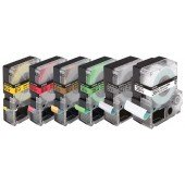 Epson Standardetikettenkassette – LC4WRN9 Std. Red/Wht 12/9