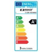 MONACOR LDB2-142G/WWS LED-Tropfen-Fadenlampe E14, ~ 230V/2 W, nicht dimmbar