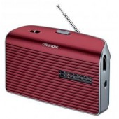 Grundig Music 60 - Portables Radio - rot/silber
