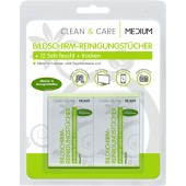 MEDIUM CLEAN & CARE Bildschirmreinigungstücher 12 Sets einzeln verpackte Reinigungstücher
