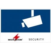 "MONACOR CCTV-LABL/OS Aufkleber""SECURITY"", außenklebend"