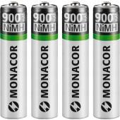 MONACOR NIMH-900R/4 NiMH-Micro-Akkus, 4er-Set