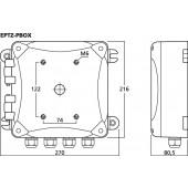 MONACOR EPTZ-PBOX Anschlussbox mit 24-V-Netzteil
