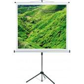 CombiFlex Budget - Bildwand - 150x150cm - 1:1 Typ D - Aufprojektion - mattweiß - Dreibein-Stativ